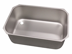 Pot wash sink bowl - Left hand - 760 x 510 x 300mm - Stainless steel strainer & waste