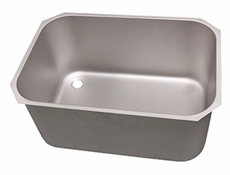 Pot wash sink bowl - Left hand - 760 x 510 x 380mm - Stainless steel strainer & chrome waste