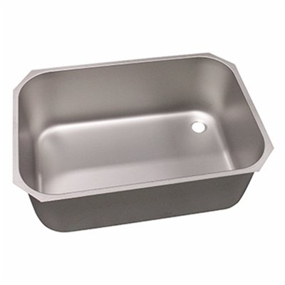 Pot wash sink bowl - Right hand - 760 x 510 x 300mm - Stainless steel strainer & chrome waste - Die Pat