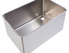 Pot wash sink bowl - Right hand - 760 x 500 x 370mm - Stainless steel strainer & waste