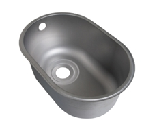 Weld In Sink Bowls - Descaled - Oval Half Bowl