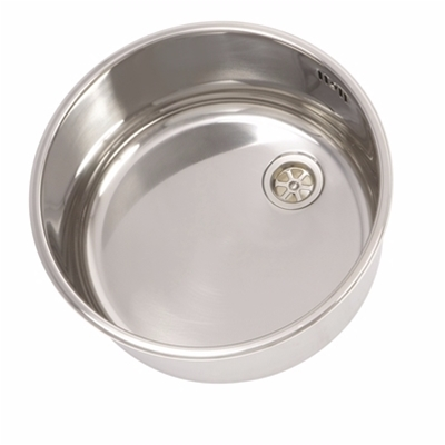Round - Weld In Sink Bowls Kit - Polished Finish