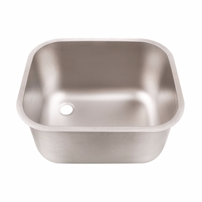 Weld In Sink Bowls - Descaled - Stainless Steel Upstand Strainer & Waste