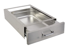 Lockable Undertable Drawer - 1/1 x 100mm - D-shaped handle