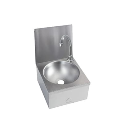 Knee Operated Basin - Compact Range - 300 x 315 c/w splashback - WRAS Approved