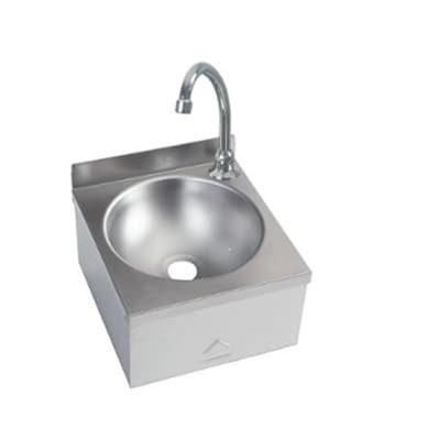 Knee Operated Basin - Compact Range - 300 x 315 - no splashback