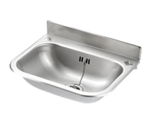 Wash Hand Basin 383 x 300 x 185 - No Skirt - Descaled Finish