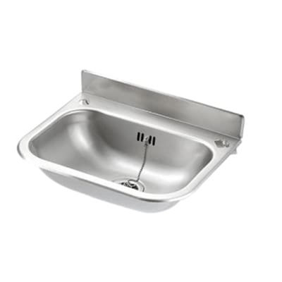 Wash Hand Basin 383 x 300 x 185 - No Skirt - Descaled Finish - Die Pat