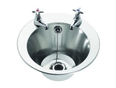 Wash Hand Basin - Inset - 290 dia x 160 c/w studs for insetting - 2 tap holes
