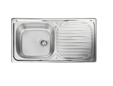 Sink Top - 950 x 508, single bowl, reversible drainer