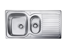 Sink Top - 950 x 508 double bowl, reversible drainer