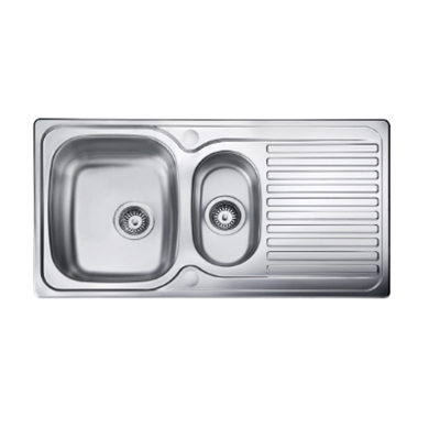 Sink Top - 950 x 508 double bowl, reversible drainer - Die Pat